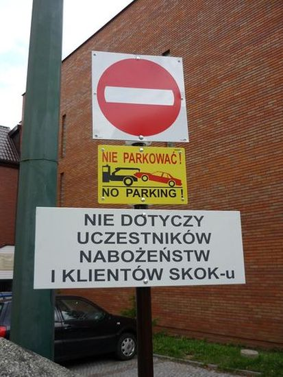 Ogl?dasz obrazy z dzia?u: Zmiana organizacji parkingu przy kościele